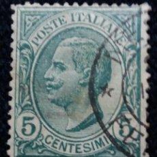 Sellos: SELLO POSTE ITALIANO. VICTOR EMMANUELLE 5 CENT, ANO 1916. USADO. Lote 144792698
