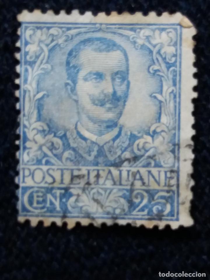 SELLO POSTE ITALIANO. VICTOR EMMANUELLE III. 25 CENT, ANO 1901. USADO (Sellos - Extranjero - Europa - Italia)