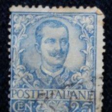 Sellos: SELLO POSTE ITALIANO. VICTOR EMMANUELLE III. 25 CENT, ANO 1901. USADO. Lote 144793574