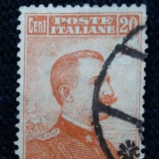 Sellos: SELLO POSTE ITALIANO. FRANCOBOLLO. 20 CENT, ANO 1916. USADO . Lote 144794078