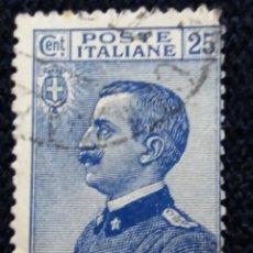 Sellos: SELLO POSTE ITALIANO. FRANCOBOLLO. 25 CENT, ANO 1923. USADO. Lote 144794366