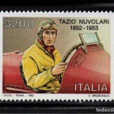 Sellos: ITALIA 1967** - AÑO 1992 - AUTOMOVILES - CENTENARIO DEL NACIMIENTO DE TAZIO NUVOLARI. Lote 144861150