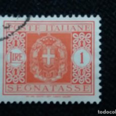 Sellos: SELLO POSTE ITALIANE, SEGNATASE 1 LIRE, AÑO 1943 USADO . Lote 145198022