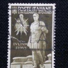 Sellos: SELLO POSTE ITALIANE, BIMILLENARIO AUGUSTA, 30 CENT,, AÑO 1938 USADO. Lote 145200606
