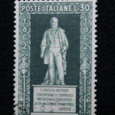 Sellos: SELLO POSTE ITALIANO,CENTENARIO CONTE DEI CONTI. 30 LIRE, 1940 USADO. Lote 145277310