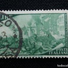Sellos: SELLO POSTE ITALIANO, RISORGIMENTO ITALIANO 6 LIRE, 1942 USADO. Lote 145279858