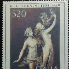Sellos: SELLO POSTE ITALIANE, G,L, BERNINI. AÑO.1980 NUEVO. Lote 145536262