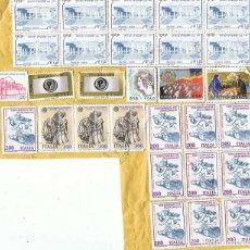 Sellos: LOTE DE 29 SELLOS DE ITALIA EN PAPEL 1981-2008. Lote 146296054
