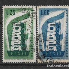 Sellos: ITALIA 1956 EUROPA CEPT USED - 8/20. Lote 146937742