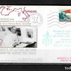 Sellos: ITALIA 1968 VUELO PAPAL ROMA BOGOTÁ PABLO VI . Lote 147050978