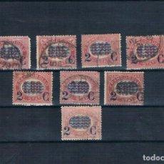 Sellos: BUENA SERIE ITALIA 1878 USADA VAL. CATÁL. 182€ SASSONE 29 A 36. Lote 147086818