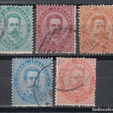 Sellos: ITALIA. 1879 - 1882 YVERT Nº 33, 34, 35, 36, 39, . Lote 147780530