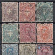 Sellos: ITALIA. 1891 - 1897 YVERT Nº 55 / 63. Lote 147780662