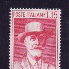 Sellos: ITALIA 1959 IVERT 786 *** CENTENARIO DEL NACIMIENTO DEL SOCIOLOGO CAMILLO PRAMPOLINI. Lote 148058002
