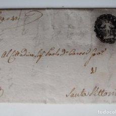 Sellos: CARTA PREFILATELICA DIRIGIDA A SANTA VITTORIA (ITALIA) AÑO 1849. Lote 148132374