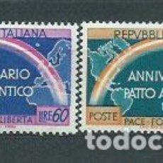 Sellos: ITALIA - CORREO 1953 YVERT 660/1 ** MNH. Lote 152709978