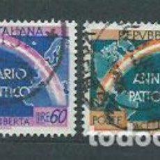 Sellos: ITALIA - CORREO 1953 YVERT 660/1 O. Lote 152709990