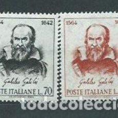 Sellos: ITALIA - CORREO 1964 YVERT 901/2 ** MNH PERSONAJE. Lote 152710781