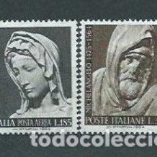 Sellos: ITALIA - CORREO 1964 YVERT 903+A143 ** MNH RELIGIÓN. Lote 152710789