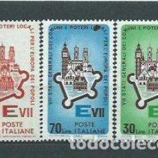Sellos: ITALIA - CORREO 1964 YVERT 909/11 ** MNH. Lote 152710805
