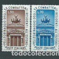 Sellos: ITALIA - CORREO 1964 YVERT 912/3 ** MNH. Lote 152710809