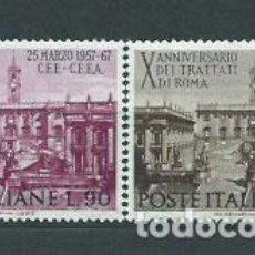 Sellos: ITALIA - CORREO 1967 YVERT 961/2 ** MNH. Lote 152710978