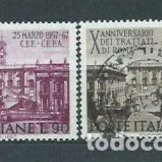 Sellos: ITALIA - CORREO 1967 YVERT 961/2 O. Lote 152710994