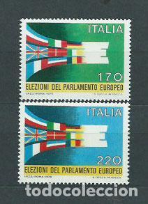 ITALIA - CORREO 1979 YVERT 1391/2 ** MNH PARLAMENTO EUROPEO (Sellos - Extranjero - Europa - Italia)