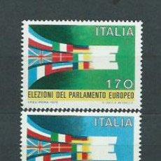 Sellos: ITALIA - CORREO 1979 YVERT 1391/2 ** MNH PARLAMENTO EUROPEO. Lote 152711837