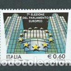 Sellos: ITALIA - CORREO 2009 YVERT 3057 ** MNH PARLAMENTO EUROPEO. Lote 152714692