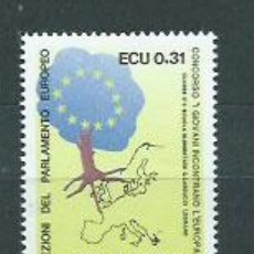 Sellos: ITALIA - CORREO 1989 YVERT 1815 ** MNH PARLAMENTO EUROPEO. Lote 152714864
