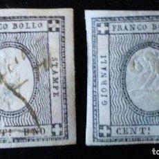 Sellos: CERDEÑA 1861 1& 2 CENTS FRANCO BOLLO. Lote 155070746