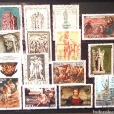 Sellos: ITALIA ARTE LOTE DE SELLOS USADOS. Lote 155760286