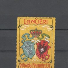 Sellos: VIÑETA MILITAR. PRIMERA GUERRA MUNDIAL: REGIMIENTO CABALLERIA LANCERO VITTORIO EMANUELLE II - ITALIA. Lote 155810034