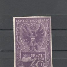 Sellos: VIÑETA MILITAR. PRIMERA GUERRA MUNDIAL: 31º REGIMIENTO INFANTERIA, BRIGADA SIENA - ITALIA. Lote 155811882