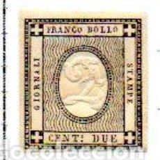 Sellos: ITALIA. (CERDEÑA) AÑO 1861.- DOS CÉNTIMOS AMARILLO, EN NUEVO. Lote 157134150