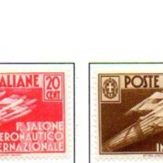 Sellos: ITALIA. AÑO 1935.-SALÓN INTERNACIONAL DE AUTOMÓVIL, SERIE COMPLETA EN NUEVO. Lote 157134974
