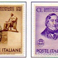 Sellos: ITALIA. AÑO 1942.- 150 ANIVERSARIO DE ROSSINI, EN USADOS. Lote 157356922
