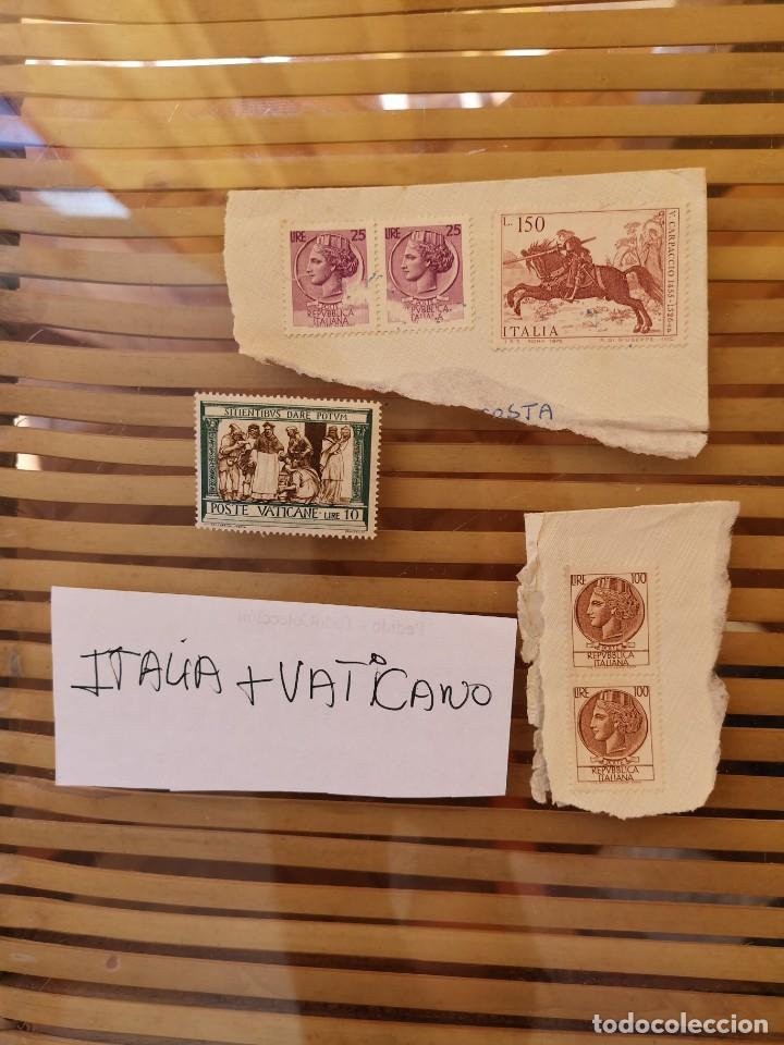SELLOS ANTIGUOS PERTENECIENTE A ITALIA Y UNO DEL VATICANO ,ANTIGUOS. (Sellos - Extranjero - Europa - Italia)