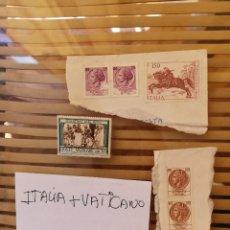 Sellos: SELLOS ANTIGUOS PERTENECIENTE A ITALIA Y UNO DEL VATICANO ,ANTIGUOS.. Lote 158660818