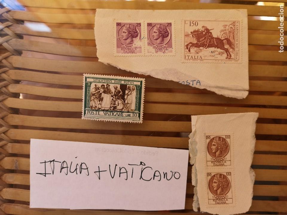 Sellos: SELLOS ANTIGUOS PERTENECIENTE A ITALIA Y UNO DEL VATICANO ,ANTIGUOS. - Foto 4 - 158660818