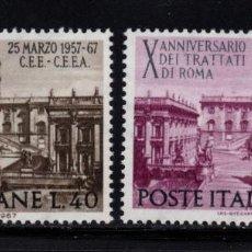 Sellos: ITALIA 961/62** - AÑO 1967 - 10º ANIVERSARIO DEL TRATADO DE ROMA. Lote 159522282