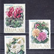 Sellos: ITALIA 1982 IVERT 1527/9 *** FLORES DE ITALIA - FLORA. Lote 159548202
