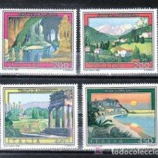 Sellos: ITALIA 1982 IVERT 1536/9 *** TURISMO - PAISAJES Y VISTAS. Lote 159549558