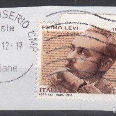 Sellos: ITALIA. 2012. PRIMO LEVI. SASSONE 3371. Lote 160332014