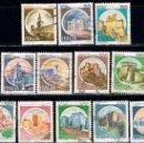 Sellos: ITALIA, 12 SELLOS DE LAS EMISIONES DE CASTILLOS, USADO. Lote 160383994