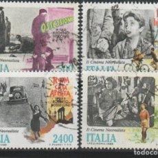 Sellos: LOTE (11) SELLOS CINE ITALIA AÑO 1988 SERIE COMPLETA. Lote 183818946
