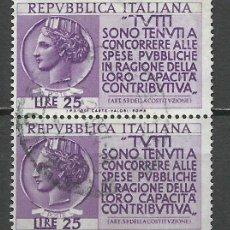 Sellos: ITALIA - 1954 - MICHEL 910 - USADO. Lote 163068390