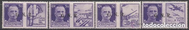 ITALIA 1944. SELLOS CON PROPAGANDA DE GUERRA G.N.R. **. MFIJ (Sellos - Extranjero - Europa - Italia)