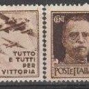 Sellos: ITALIA 1944. SELLOS CON PROPAGANDA DE GUERRA G.N.R. **. MFIJ. Lote 166918420